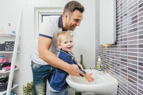 Varmvatten till handtvätt